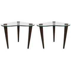 Midcentury Pair of Side Tables in the Manner of Gilbert Rohde