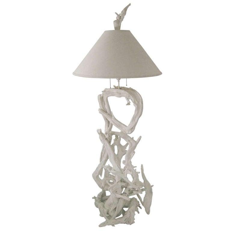 Amazing Sculptural Driftwood Floor Lamp