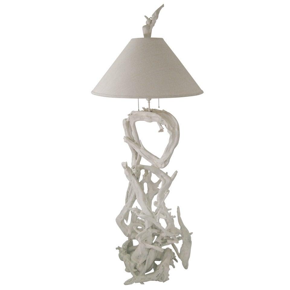 Mid Century Modern Sculptural Driftwood Floor Lamp, circa 1960