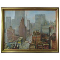Lower Manhattan NYC Oil On Canvas - Boudreau