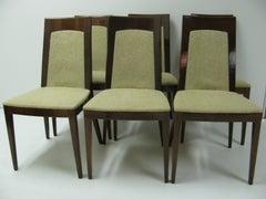 Set of Six Art Moderne Walnut Dining Chairs Germany