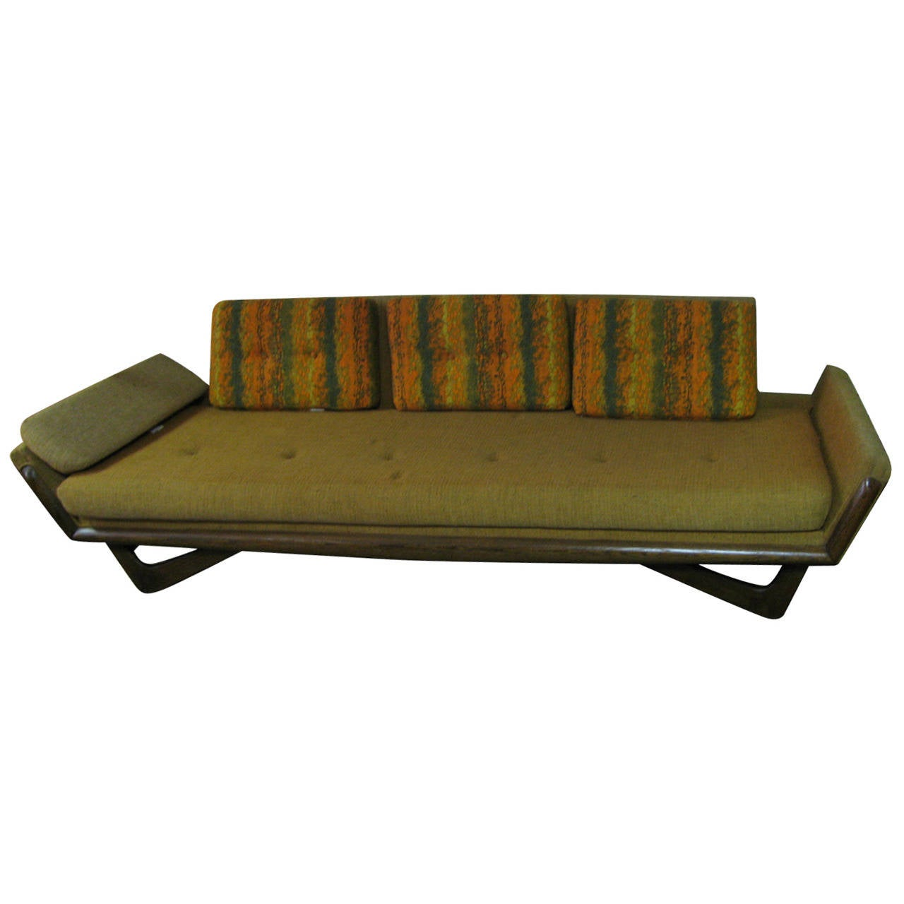 Adrian pearsall mid century gondola sofa for sale at 1stdibs for Mid century sectional sofa for sale