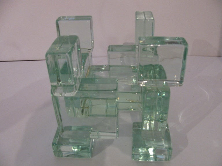Mid-Century Italian Architectural Glass Block Cocktail or Coffee Table 2