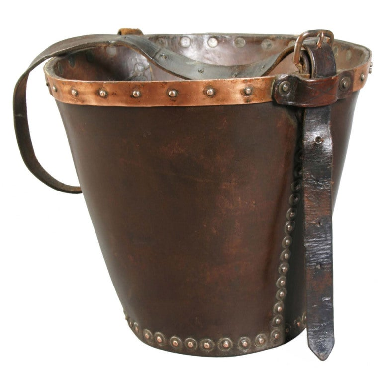 Antique Leather Fire Bucket At 1stdibs