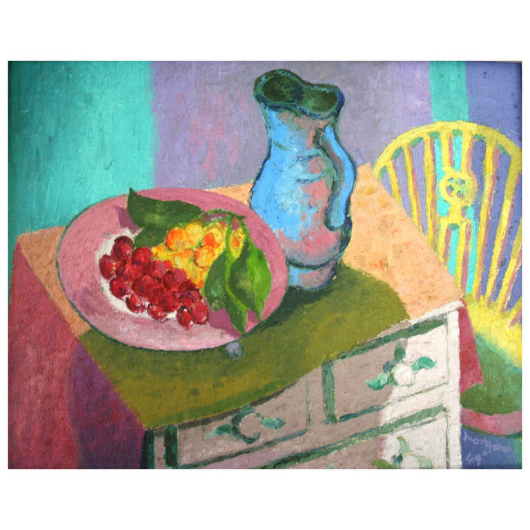 Still Life on a Painted Chest For Sale