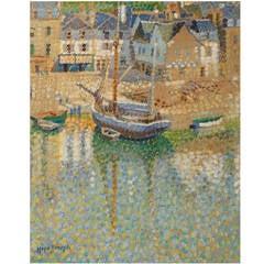 """Aurey Harbour, Brittany"" Painting"