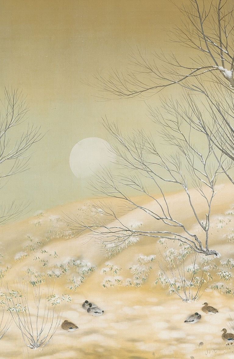 Winter Landscape Screen by Sasaki Rinpu image 2