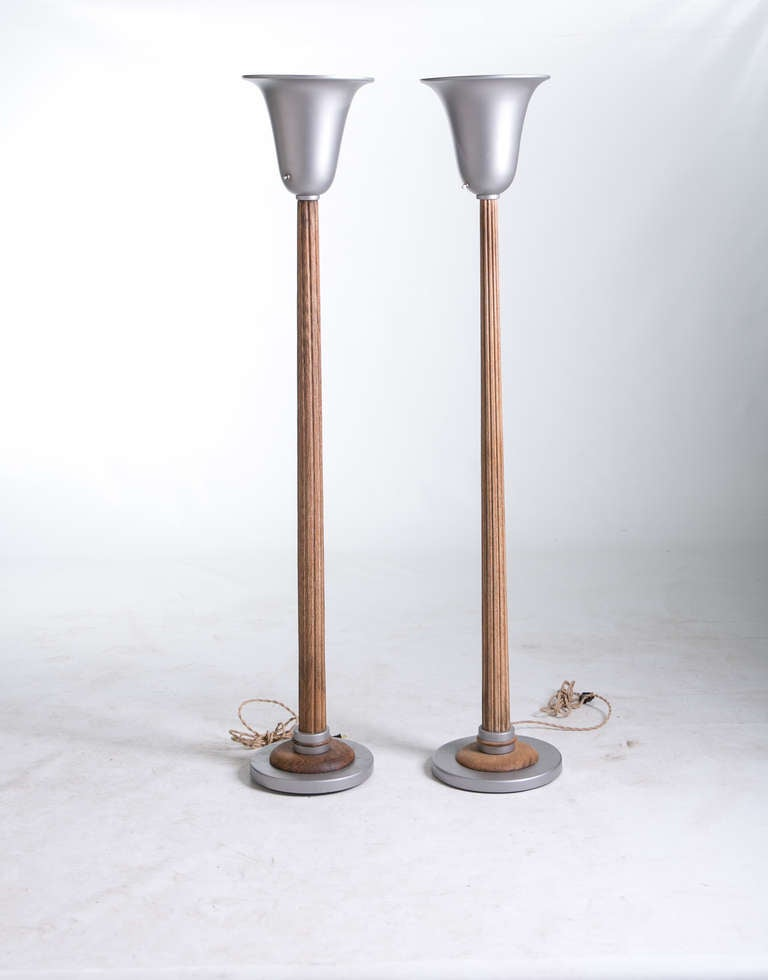 1930s columnar torchiere lamps at 1stdibs for 1930 floor lamps