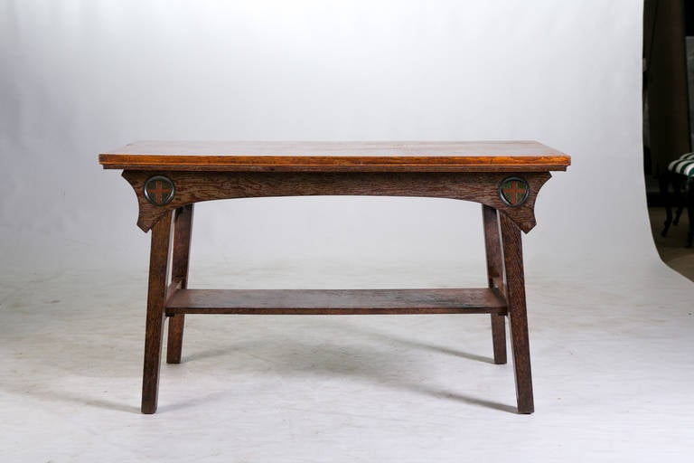 Arts and crafts hall table for Arts and crafts sofa table