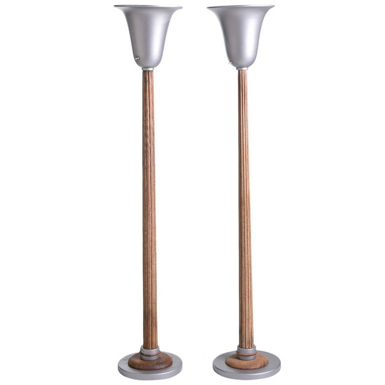 1930s columnar torchiere lamps at 1stdibs for 1930s floor lamp