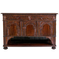 Italian Renaissance Style Carved Walnut Cabinet, 1800s