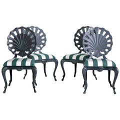 Brown Jordan Style Venetian Grotto Patio Chairs, Set of Four
