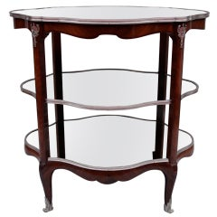 Very large Louis XV style sideboard circa 1880 in rosewood and silvered bronze