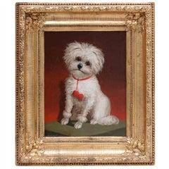 Dog Portrait, Oil On Canvas