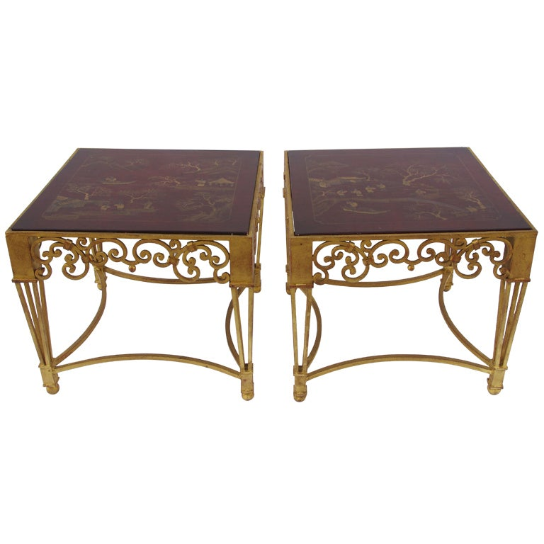 Pair Of Chinoiserie 19th Century Side Tables