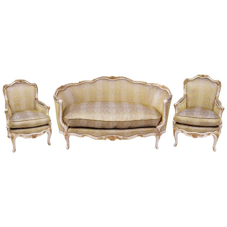 Circa 1930 period louis xv style salon set pair of for Salon louis xv
