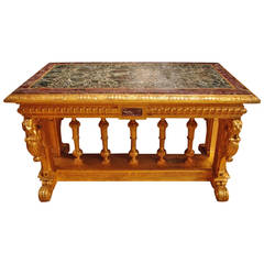 Large and Stunning Renaissance Revival Style Center Table, circa 1940