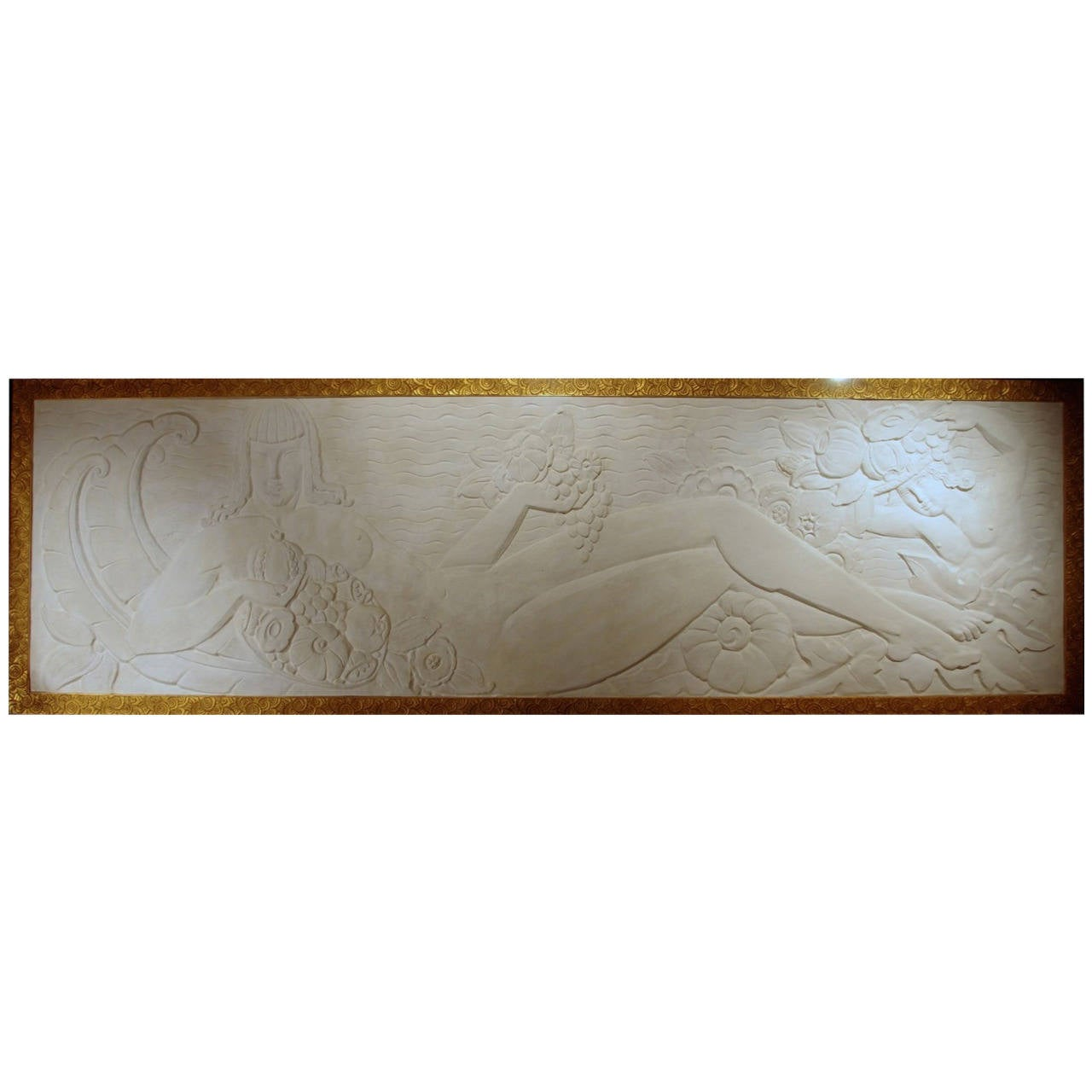 Large art deco period bas relief in stucco circa 1940 at for Art deco era dates