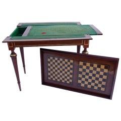 Mahogany Louis XVI Game Table