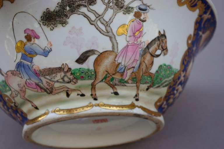 19th Century Samson Porcelain Hunting Scene Plate/Bowl For Sale 1