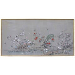 Large Chinese Painted Canvas, circa 1950
