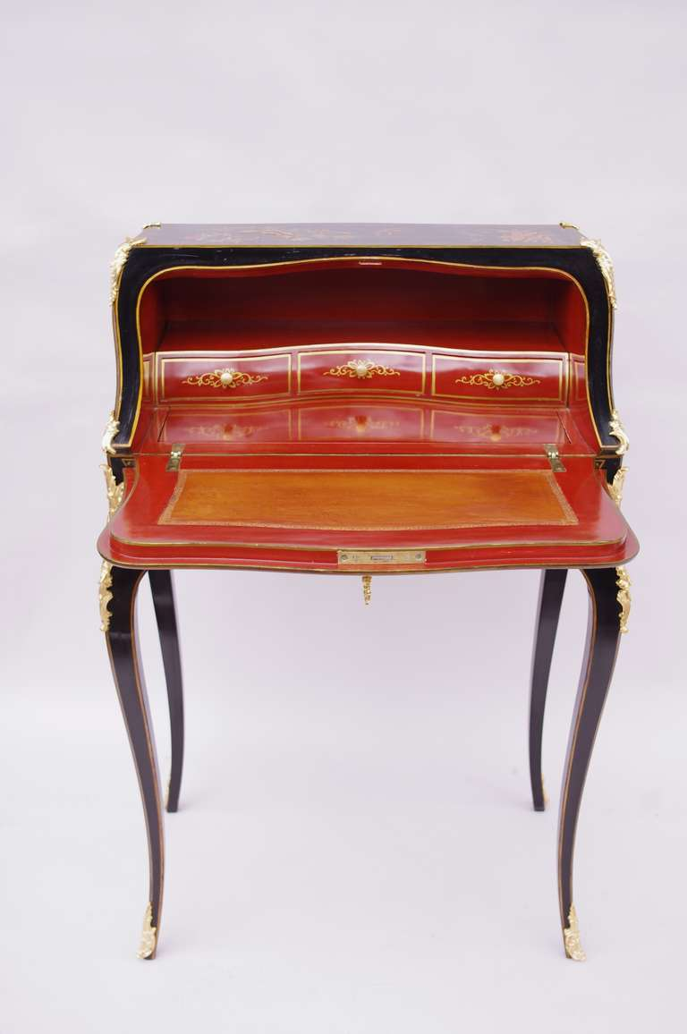 Small And Elegant Louis Xv Style Secretary Desk In Chinese