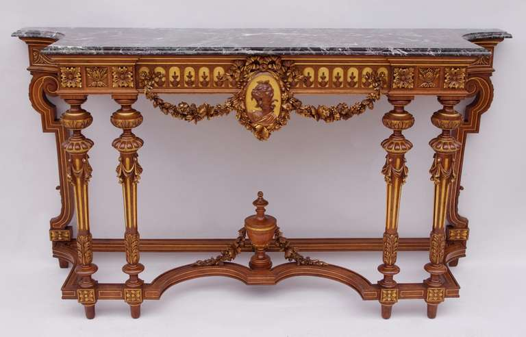 Long louis xvi style console on 6 feet at 1stdibs for Sofa table 6 ft