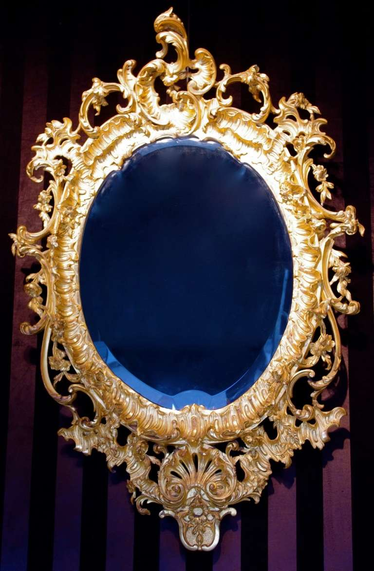 1880 rococo mirror in stucco for sale at 1stdibs for Baroque mirror