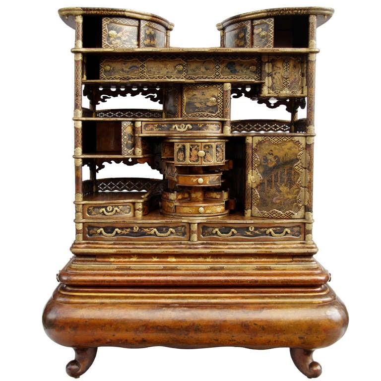 Very Unusual Japanese Cabinet - Shodana - From Meiji ... - photo#27
