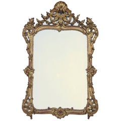 Giltwood Louis XV Style Mirror, 2nd half of the 19th century
