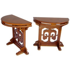 Pair of openwork Lacquer Consoles from 1900