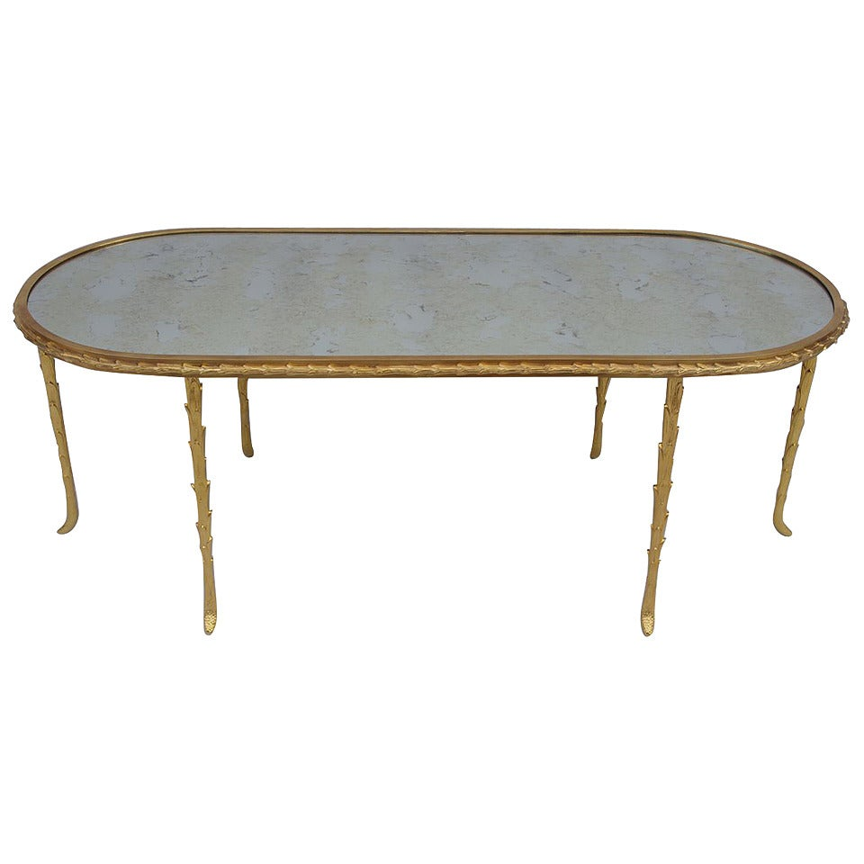 Maison Jansen Oval Coffee Table Circa 1960 At 1stdibs