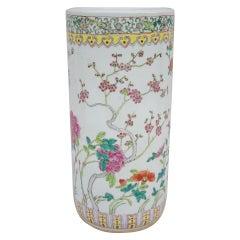 Canton Chinese porcelain umbrella stand, circa 1950