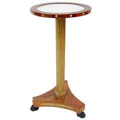19th c. Small Empire Style Pedestal Table