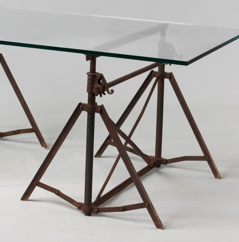 This vintage drafting table by hamilton is no longer available - Vintage Pair Of Architects Adjustabletrestles At 1stdibs