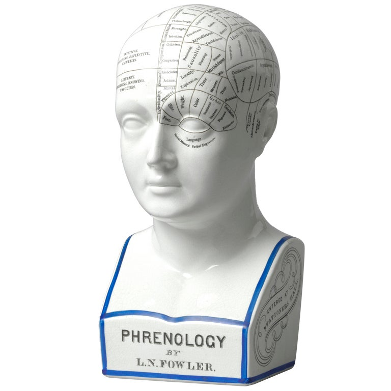 Phrenology Bust By L N Fowler At 1stdibs