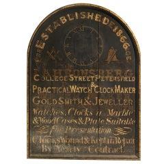 Large English Original Jeweller's Trade Sign