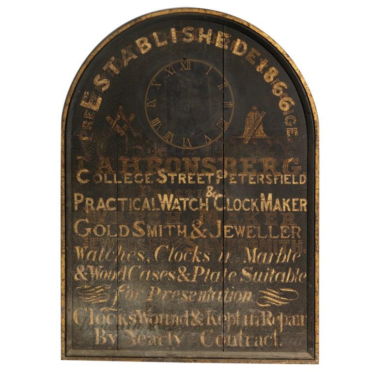 Large English Original Jeweller's Trade Sign 1