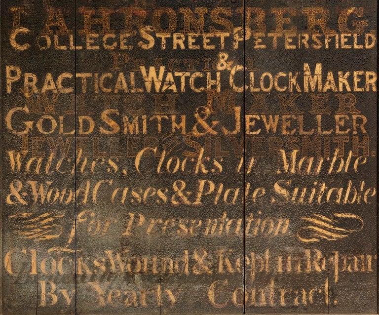 Large English Original Jeweller's Trade Sign 2