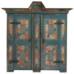 Northern European Folk Art Marriage Cupboard