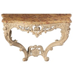 French Provincial Rococo Console Table of Louis XV Style