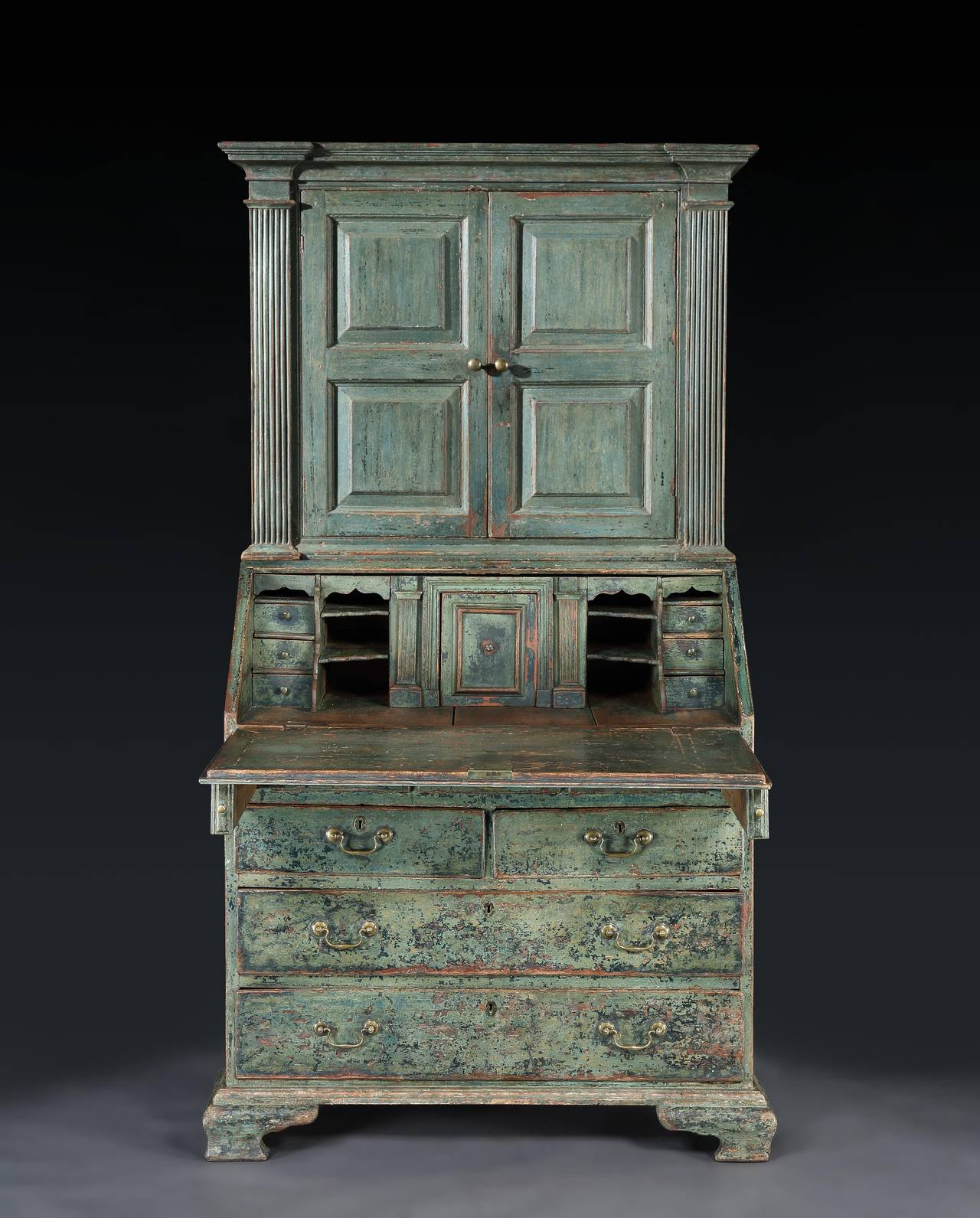 extraordinary c18th original painted bureau cabinet at 1stdibs. Black Bedroom Furniture Sets. Home Design Ideas