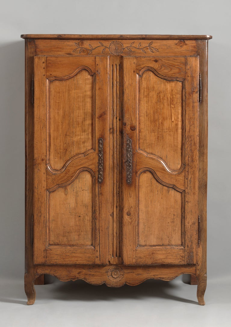 rare small louis xv provincial armoire at 1stdibs. Black Bedroom Furniture Sets. Home Design Ideas