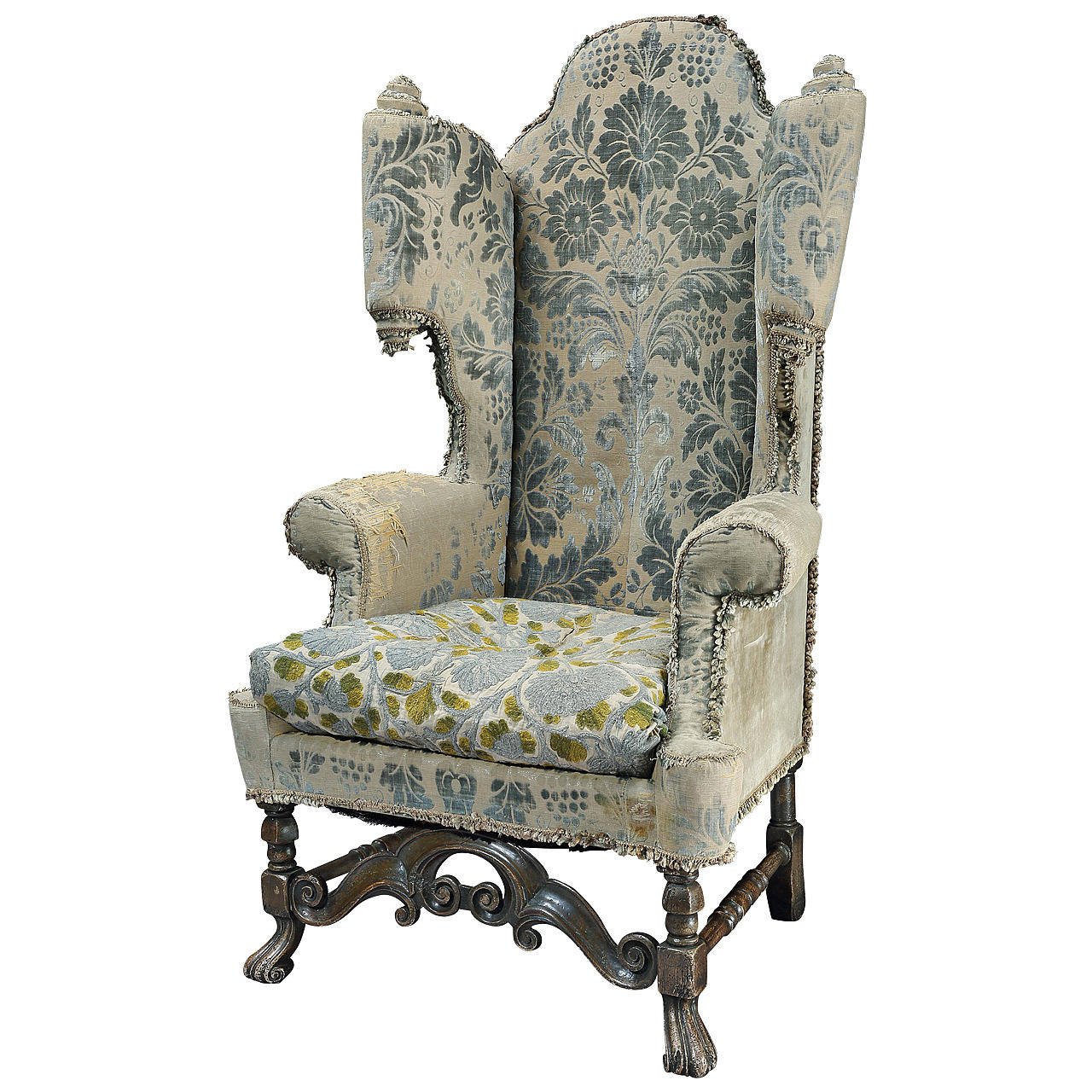 19th Century Carolean Style Scroll Wing Armchair At 1stdibs