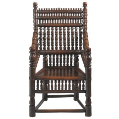 Exceptional Early Turner's Throwne Chair