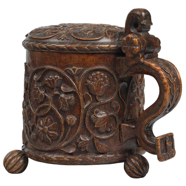 Fine And Important Carved Ceremonial Peg Tankard At 1stdibs