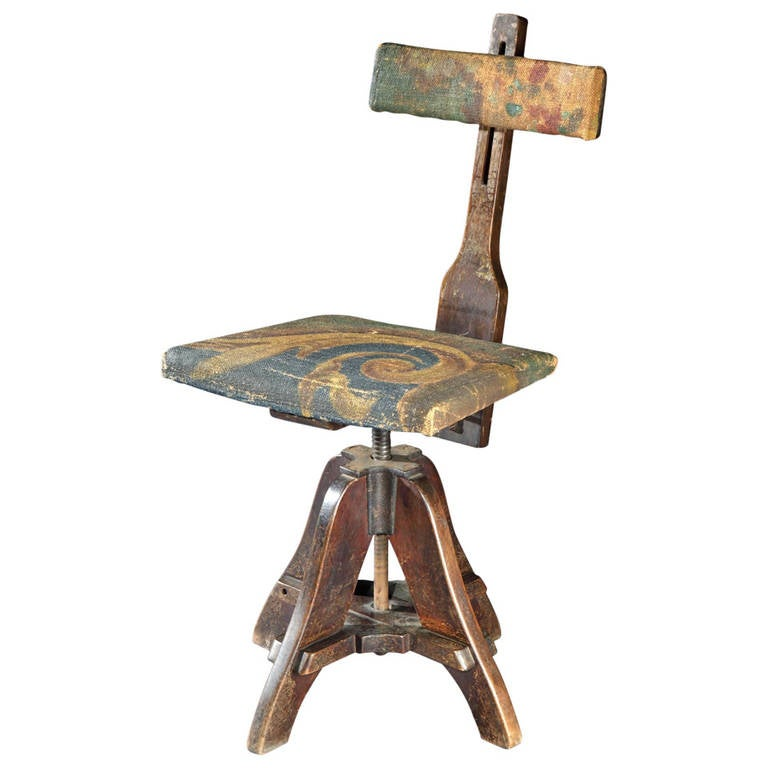 Revolving Early 20th Century Artist 39 S Chair For Sale At 1stdibs