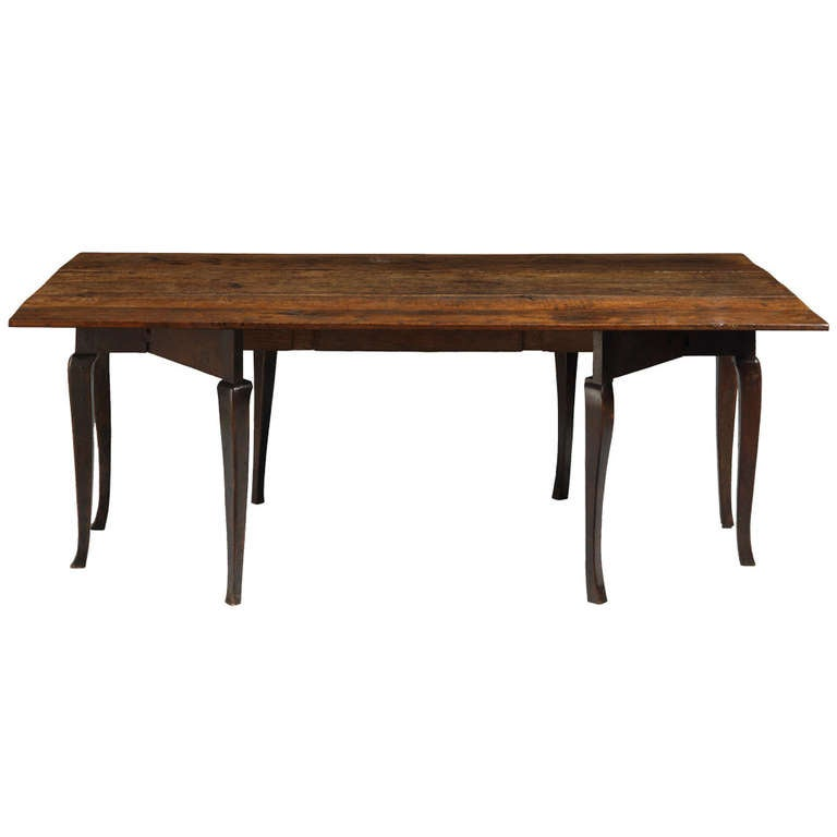 Rare large georgian cabriole leg twin drop leaf dining for Large kitchen tables with leaves