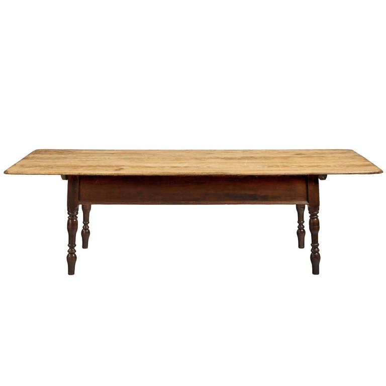Unusual large farmhouse dining table at 1stdibs for Unusual dining room tables