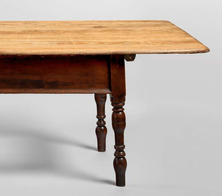 Unusual Farmhouse Dining Table at 1stdibs